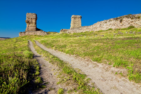 castile leon: ruins of castle of Palenzuela. Castile and Leon, Spain
