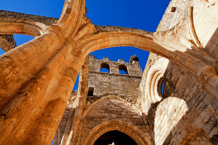 palencia province: Ruins of Church of Santa Eulalia in Palenzuela. Province of Palencia, Castile and Leon, Spain