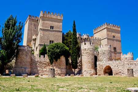 palencia province: Castle of Ampudia, Palencia province, Castile and Leon, Spain Editorial