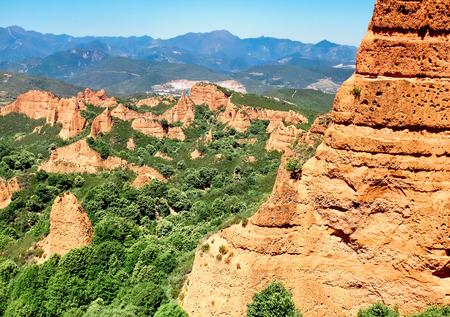 gold mine: Las Medulas ancient Roman gold mine, Castilla and Leon, Spain Stock Photo