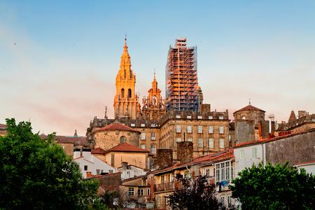 compostela: restoration Cathedral of Santiago de Compostela. Galicia, Spain