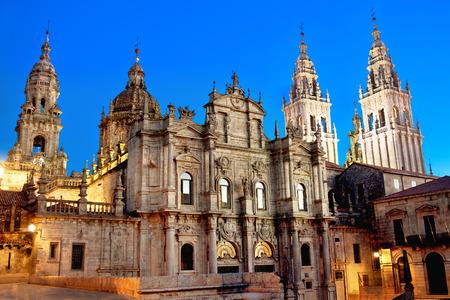 サンティアゴ ・ デ ・ コンポステラ大聖堂。ガリシア (スペイン)