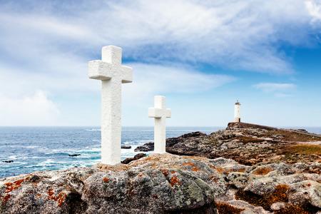 galicia: Coast della Morte. Faro Corme. Galicia, Spain. Stock Photo