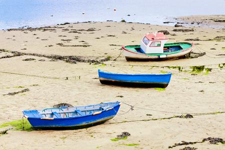 galicia: boats on river Viveiro, Galicia, Spain
