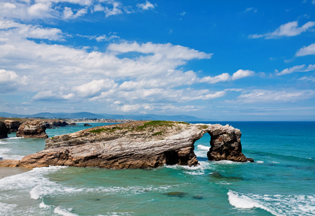 cathedrals: Beach of cathedrals, Galicia, Spain Stock Photo