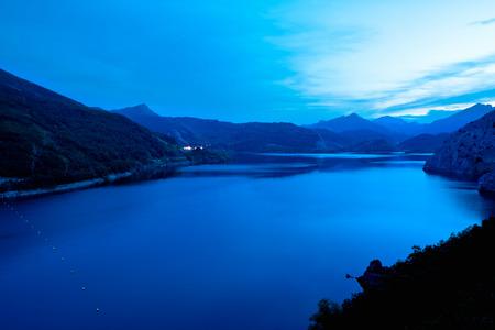 castile leon: reservoir Los Barrios de Luna. Leon. Castile and Leon. Spain.