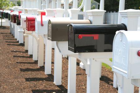 printed matter: mailbox madness Stock Photo