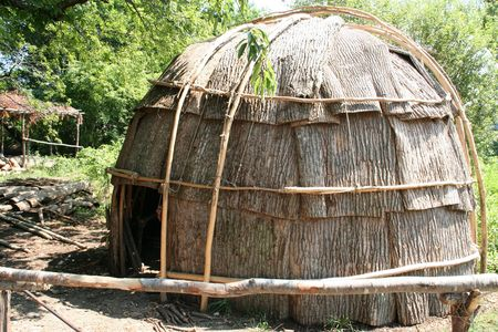 a native American hut