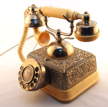 rotary: An old rotary phone