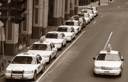 Taxi lineup moins un  Banque d'images - 306838