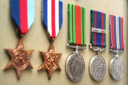 Métaux de la guerre WW2 Banque d'images - 306830
