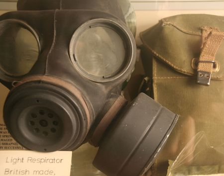 infantryman: soldiers gask mask Stock Photo