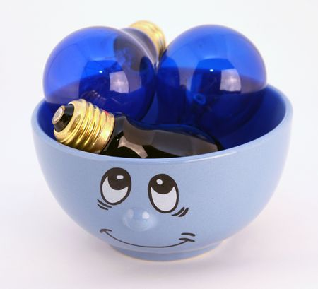 lambent: blue with ideas Stock Photo
