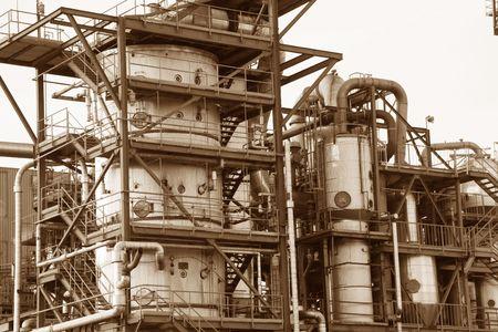 evaporarse: planta de fabricaci�n industrial  Foto de archivo