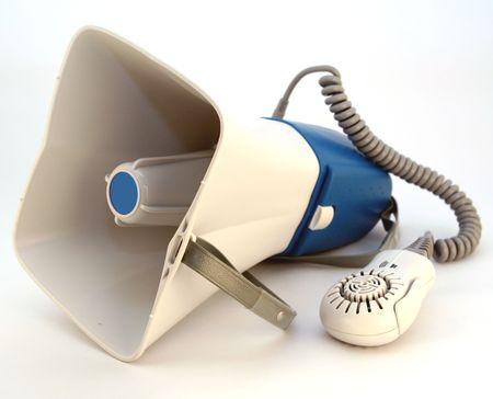 amplification: directeurs ou m�gaphone de police Banque d'images