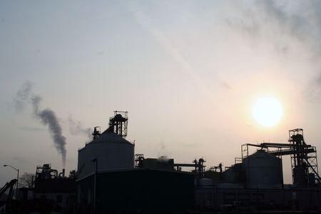 industrial park: industrial park silouette