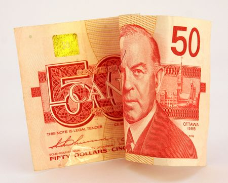 fifty dollar bill: canadian (50) fifty dollar bill Stock Photo