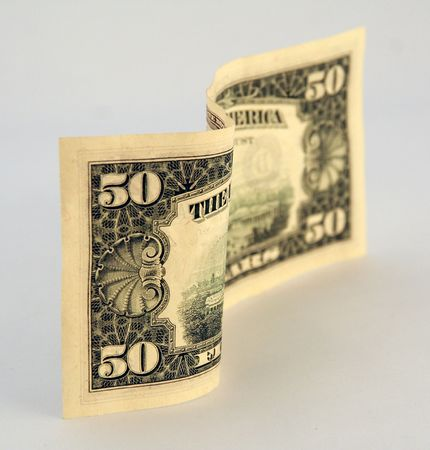 fifty dollar bill: american (50) fifty dollar bill Stock Photo