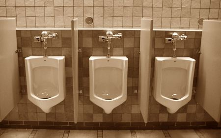 latrine: choices at the urinals