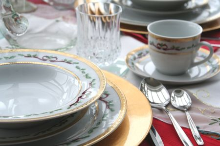 a set of antique China dishes