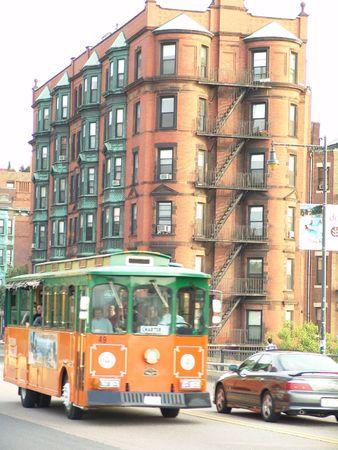 tour bus in Boston photo