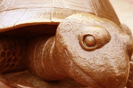 gratified: The happy bronze turtle