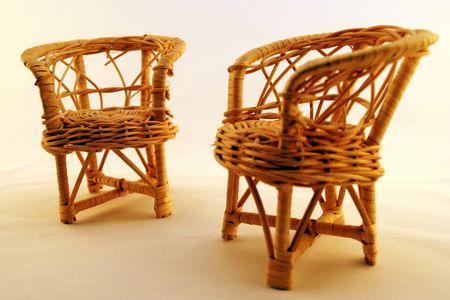 straw chairs Imagens