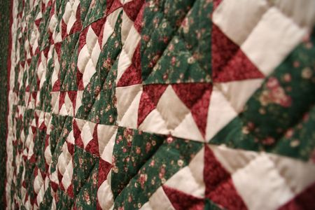coverlet: quilt Stock Photo