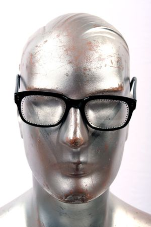 bifocals: silver mannequin with cool guy sun or glasses on and there are a few of these in my collection