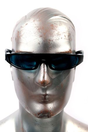 silvery: silver mannequin with cool guy sun or glasses on and there are a few of these in my collection