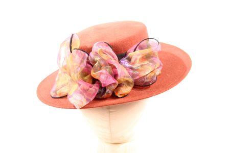 Un chapeau dans le cadre de plus de deux cents (200) chapeaux pour les parties isolées sur un fond blanc Banque d'images - 999089