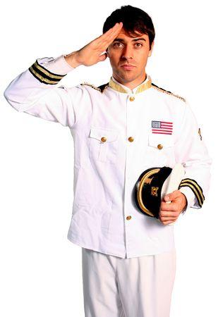 Militaire américaine marin de la marine à saluer la bravoure d'une guerre de conflit lutte Banque d'images - 1050023