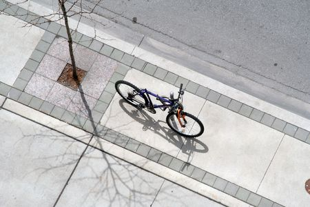 bicycle on the side walk