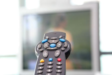 TV television remote control electronic controller of the cathode ray tube imaging device Zdjęcie Seryjne