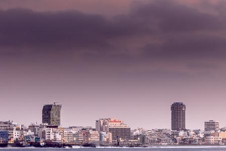 isthmus: Las Canteras Beach Isthmus (skyline) Stock Photo