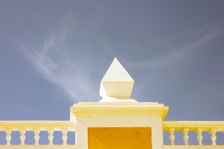 flat roof: A shot of a beautiful pinnacle on a flat roof