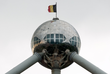 A shot of the Atomium in Brussels