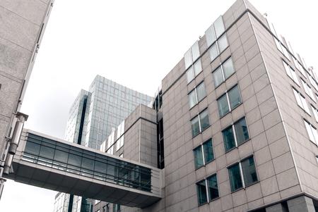 aereal: A shot of street buildings in Brussels