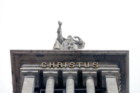 christus: A shot of a statue of Christus in Gijon