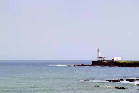 santiago cape verde: A shot of a lighthouse in Praia, Santiago, Cape Verde