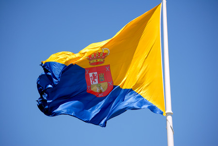 grand canary: A shot of the official flag of Grand Canary island