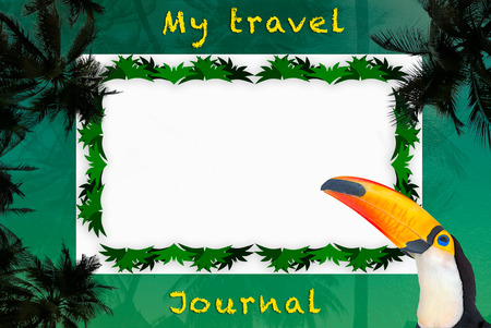 titled: A nice illustration as a travel journal with Tropical theme (titled version)