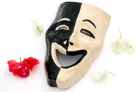 jokes: An isolated shot of masks with an expression of happiness and nature jokes