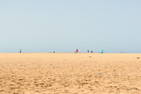 grand canary: A panoramic view of Maspalomas Beach (Grand Canary island)