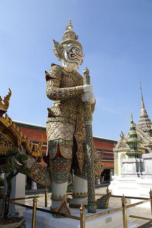 Statue of Rakshas, Wat Phra Kaew, Bangkok photo