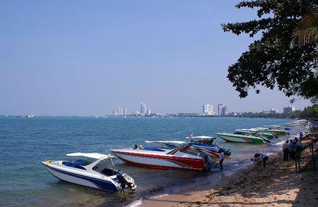 speedboats: Speedboats at Pattaya beach