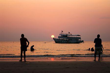 klong: Evening motion on Klong Prao Beach, Ko Chang, Thailand
