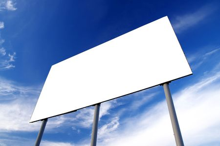 Blank billboard and blue sky photo