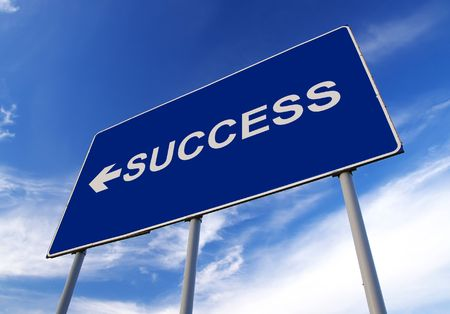 Success road sign and cloudy sky Stock Photo - 2103911