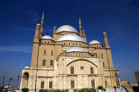 cairo: Famous mosque of Mohamed Ali (Muhammad Ali Pasha) at Saladin Citadel of Cairo, Egypt
